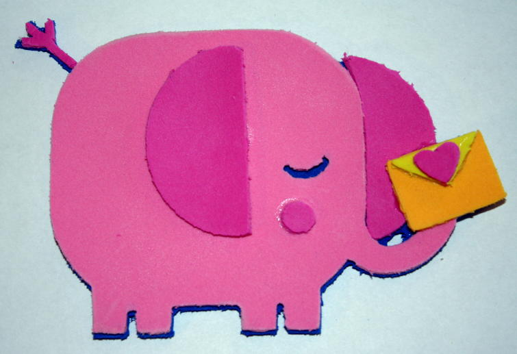 How To Cut Foam In The Cricut Paisley Elephant Magnet