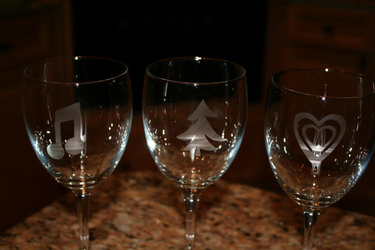 No Wine Charms Needed I Made 12 Different Glass Etched