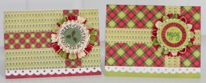 Christmas Cards with Tim Holtz Rosette & All Around Sentiments stamps