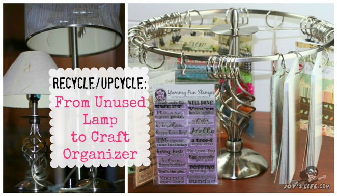 How to upcycle an unused lamp into a great craft organizer!