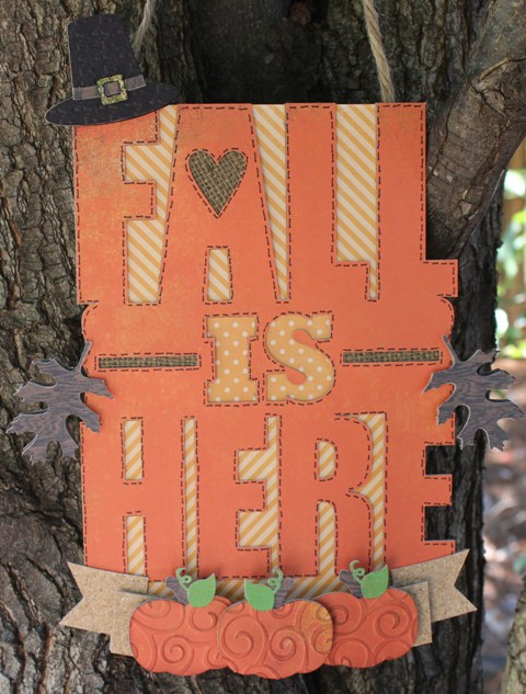 fall is here sign