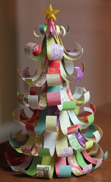 How To Make A Christmas Tree From Paper Scraps Joy 39 S Life