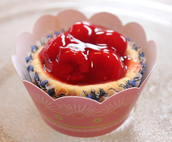 Cherry Cream Cheese Tarts & Lettering Delights Cupcake Wrappers
