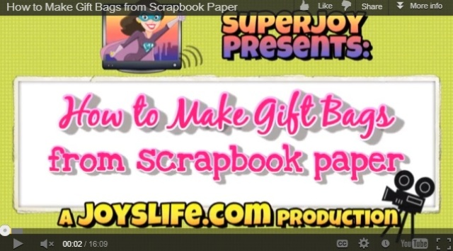 It's GREAT to be able to turn unused scrapbook paper into a useful gift bag!