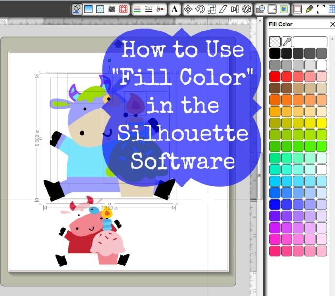 How To Use Fill Color In The Silhouette Software Joy S Life