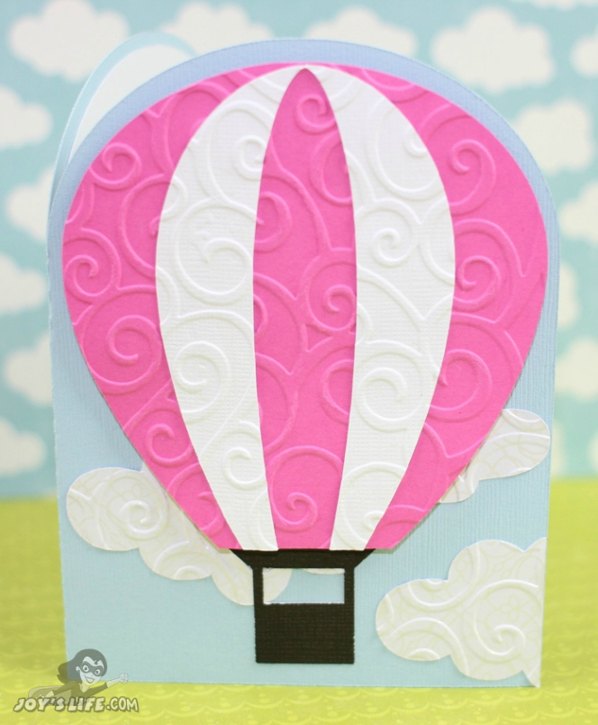 Hot Air Balloon Card using Silhouette Cameo and Joy's Life.com stamps