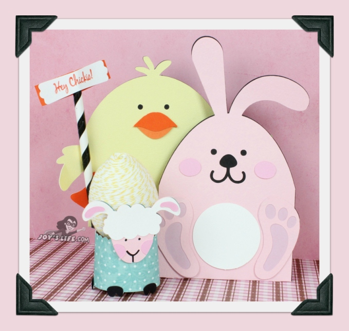 Bunny, Chick and Lamb Easter gift card and egg holders at www.joyslife.com