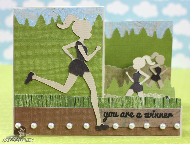Running Inspired Side Stair Step Card at www.joyslife.com