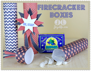 Fun to Make Firecracker Boxes #LetteringDelights #SilhouetteCameo #JoyslifeStamps #4thofJuly