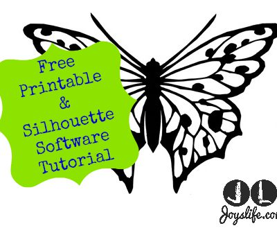 Free Butterfly Printable & How to Use with Silhouette Software
