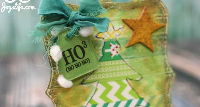 Christmas Tree Tag with Joys Life Stamps #Christmas #stamps