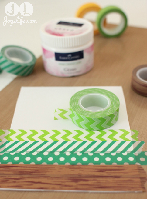 washi tape strips on paper