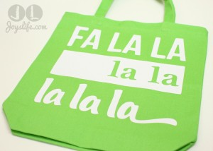FaLaLa Iron On #Vinyl #Christmas Bag