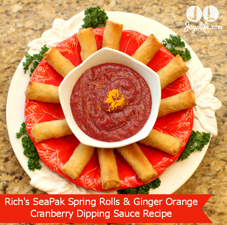 Rich's SeaPak Spring Rolls & Ginger Orange Cranberry Dipping Sauce Recipe #PakTheParty #PakTheParty #shop #cbias