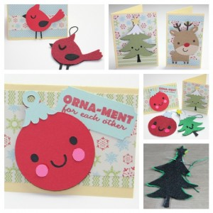 Felt Ornaments and Matching Cards using Joy's Life Stamps