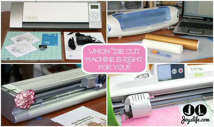 Should you buy a Silhouette Cameo? This helpful post helps you determine which die cut machine is right for you. #SihouetteCameo #Cricut #KNKZing #SizzixEclips