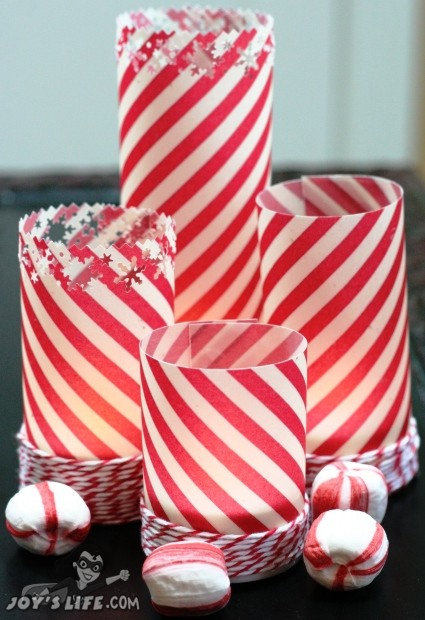 Peppermint Stick Tealight Candles