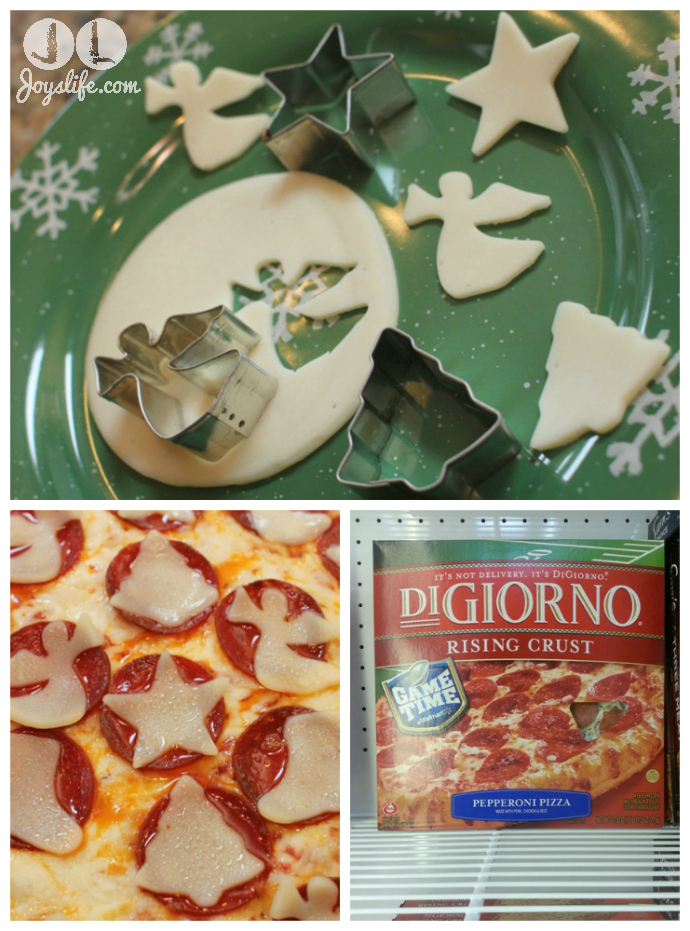 Holiday Decorated Digiorno Pizza #PlanAhead #shop #cbias