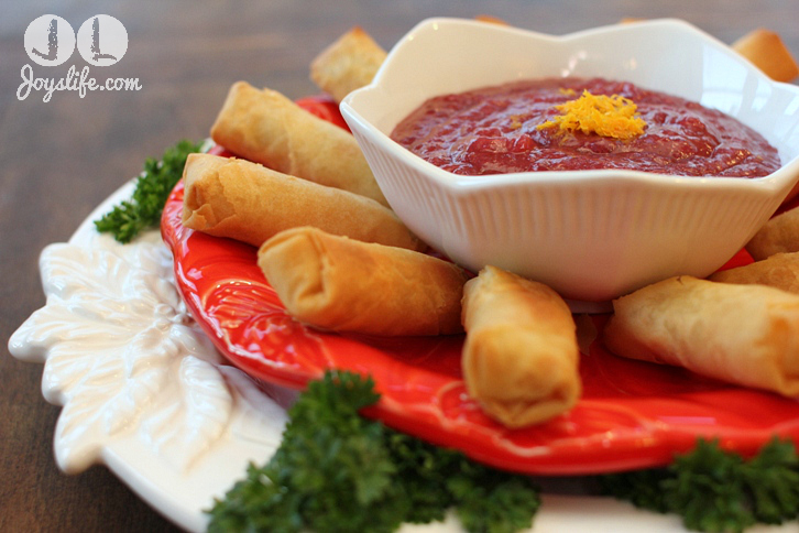 Rich's SeaPak Spring Rolls & Ginger Orange Cranberry Dipping Sauce Recipe #PakTheParty #shop #cbias