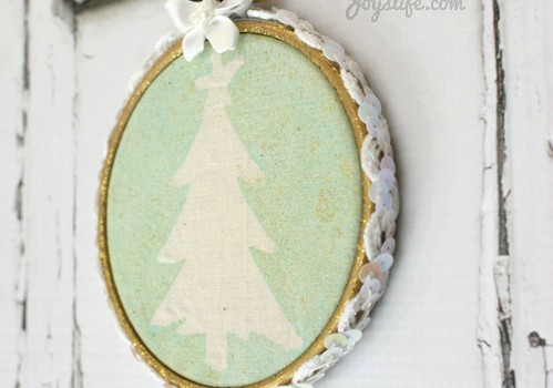 #Christmas Tree Tie Dye Hoop Art #SEI