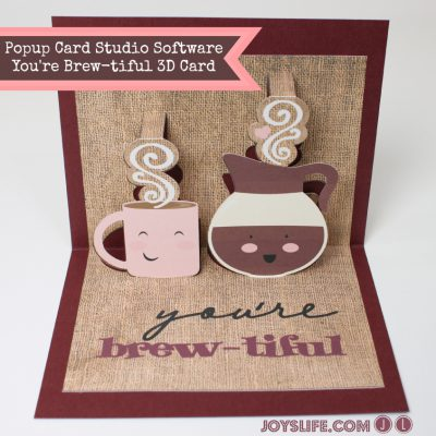 Popup Card Studio Software You're Brew-tiful 3D Card