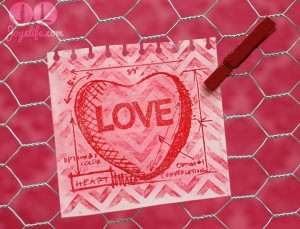 Simple, Fun & Sweet Love Note Valentine Display using Faber Castell Design Memory Craft and Tim Holtz Stamps #TimHoltz #FaberCastell #DesignMemoryCraft #Valentine