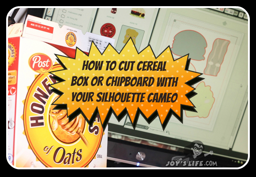 How to Cut Cereal Box Using the Silhouette Cameo #SilhouetteCameo #diecut #tutorials