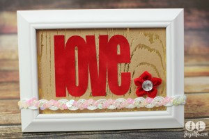 Simple Valentine Love Frame #SEI #Love #Valentine