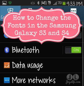 How to Change the Fonts in the Samsung Galaxy S3 and S4 #S4 #S3 #Samsung