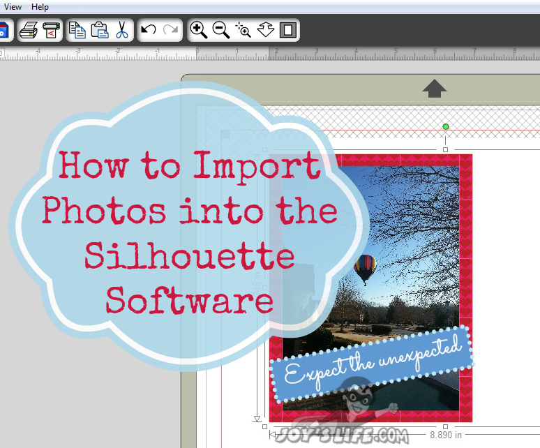 How to Import Photos Using the Silhouette Cameo #SilhouetteCameo #diecut #tutorials