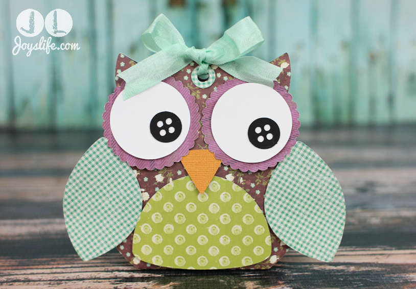 Owl Treat Box with Silhouette Cameo and SEI #SEI #SilhouetteCameo #Owl #3D #LoriWhitlock
