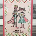 Dynamic Duo Card with Silhouette Sketch Pens #SilhouetteCameo #JoyslifeStamps #SilhouetteSketchPens #SuperHero #FaberCastell #DesignMemoryCraft