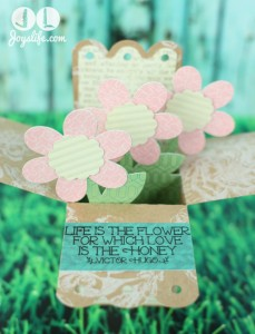 3D Pop Up Flower Card with Silhouette Cameo and SEI
