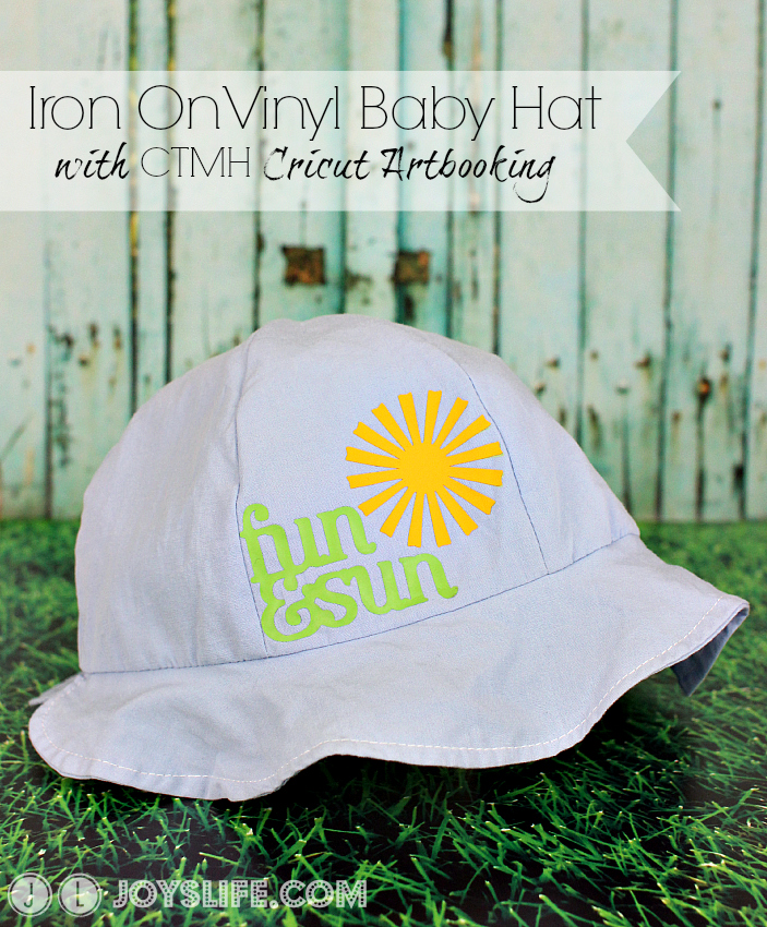 Iron On #Vinyl #Baby Hat with #CTMH #Cricut Artbooking
