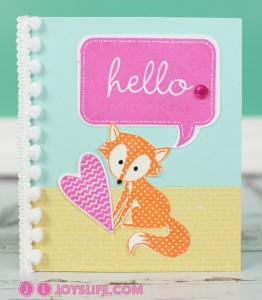Hello Fox Card with Cricut CTMH Art Philosophy and Artiste + My Card Mistakes and Fixes