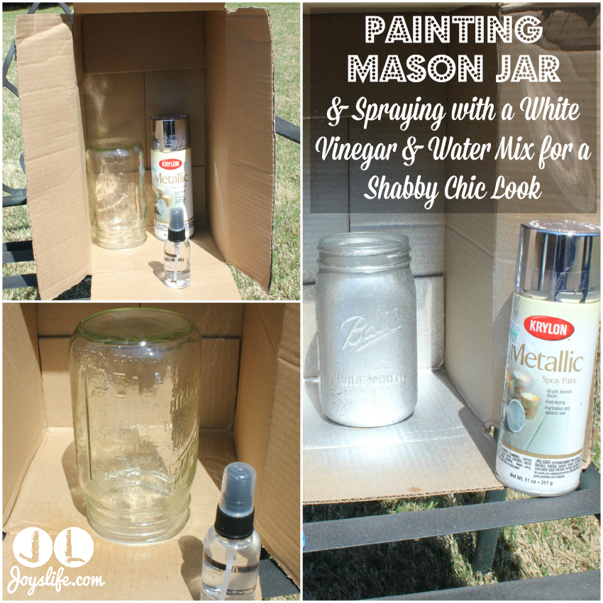 Diy Shabby Chic Silver Mason Jar Lamp With Led Power Joy