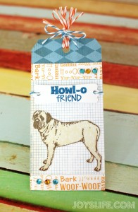 Howl-O Friend Puppy Gift Tag #GiftTag #crafts #trendyTwine #joyslifestamps #EnglishMastiff
