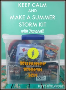 Keep Calm and Make a Summer Storm Kit with Duracell