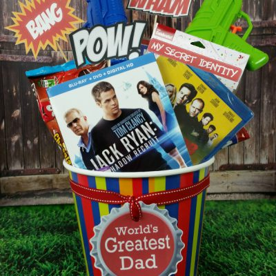 Action Movie Themed DVD Gift Basket for Dad this Father's Day