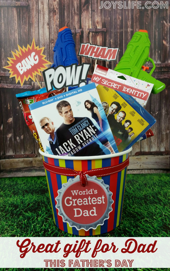 Great Themed DVD Gift Basket for Dad this Father's Day