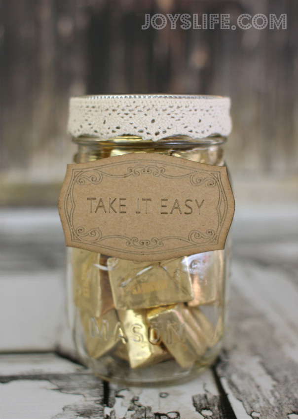 Take It Easy Candy Mason Jar With Sei Joy S Life