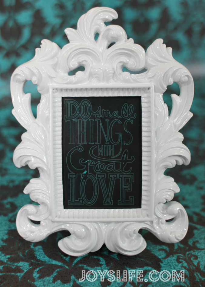 Create Silhouette Cameo Framed Great Love Quote with Amy Chomas Pen Holder + GIVEAWAY