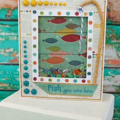 Xyron & Perfect Paper Crafting Blog Hop – Fish You Were Here Sequin Shaker Card