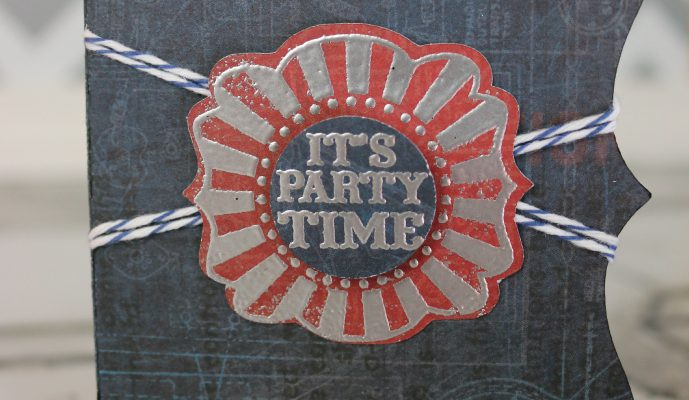 Cricut Artiste It's Party Time Gift Card Holder