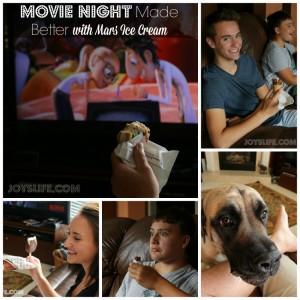 Movie Night Made Better with Mars Ice Cream #movies #mars #icecream #giveaway