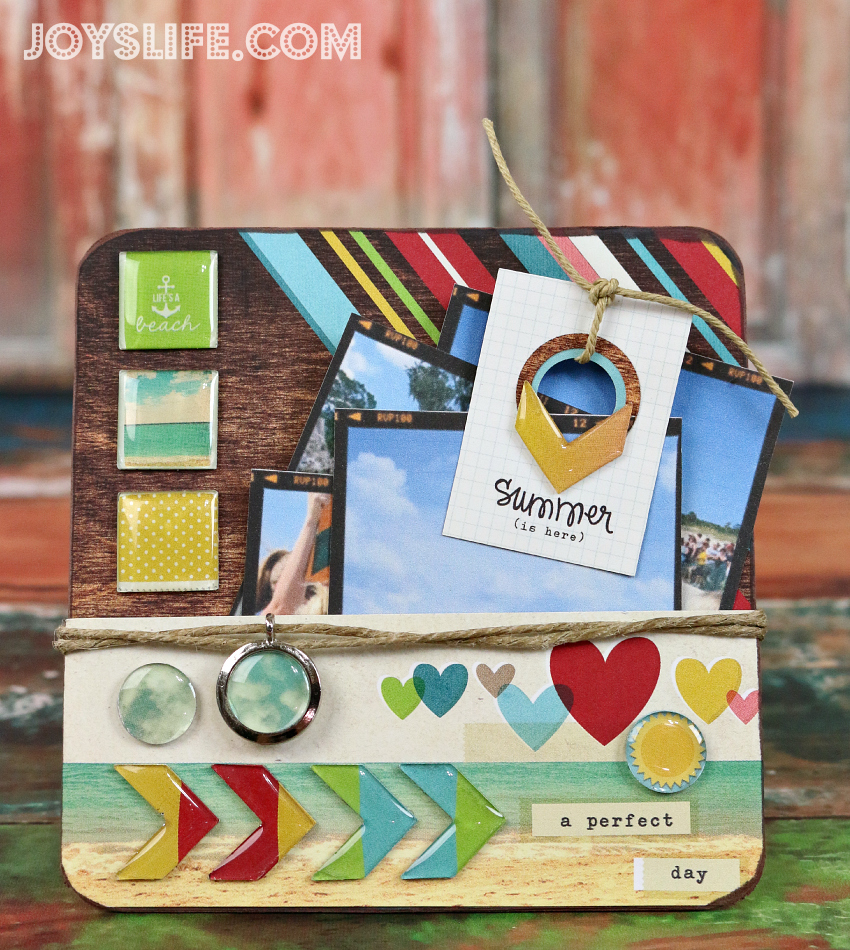 A Perfect Summer Day Chipboard Display with Epiphany Crafts #EpiphanyCrafts #chipboard #crafts