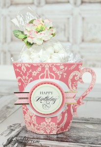 Anna Griffin Coffee Mug with Xyron and SVGCuts #AnnaGriffin #Xyron #SVGCuts #3d #crafts