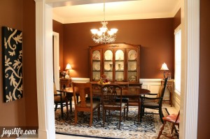 Inexpensive & Fast China Cabinet Makeover #SparklySavings #CollectiveBias #shop