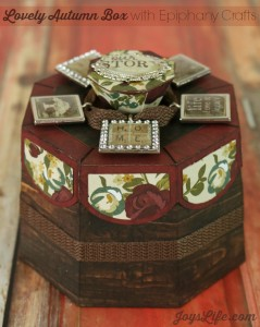 Lovely Autumn Box with Epiphany Crafts #SVGCuts #EpiphanyCrafts #SimpleStories