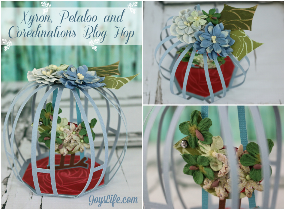 3D Cardstock Floral Birdcage with Xyron, Petaloo and Core'dinations #Xyron #Petaloo #Coredinations #SVGCuts